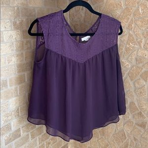 Purple Garage Embroidered Top